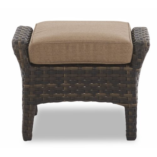 Fleur De Lis Living Rouse Outdoor Ottoman with Cushion
