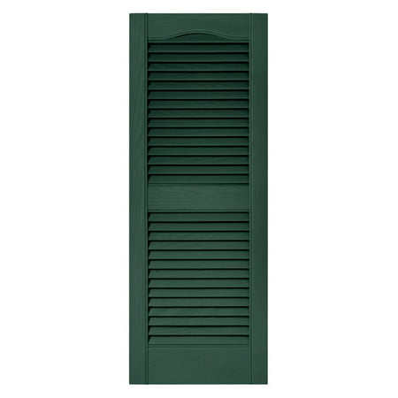 Builders Edge 14.5W in. Louvered Vinyl (Match Vinyl Shutters)