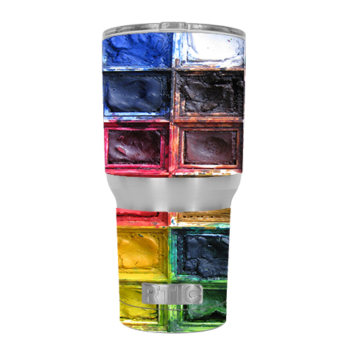 Skin Decal For Rtic 30 Oz. Tumbler / Watercolor Tray Artist Painter