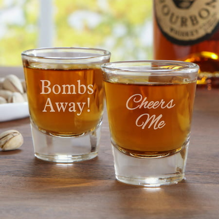 Personalized Create Your Own Shot Glass, Choose Block or Script - Personalized Shot Glass No Minimum