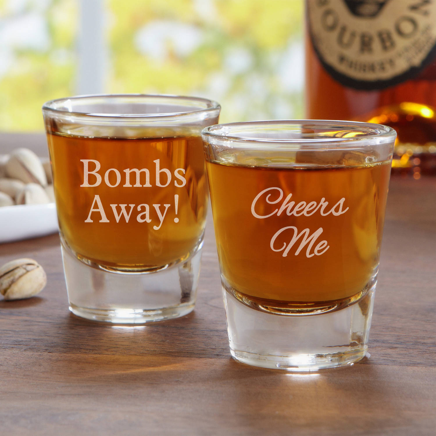 Personalized Create Your Own Shot Glass, Choose Block or Script