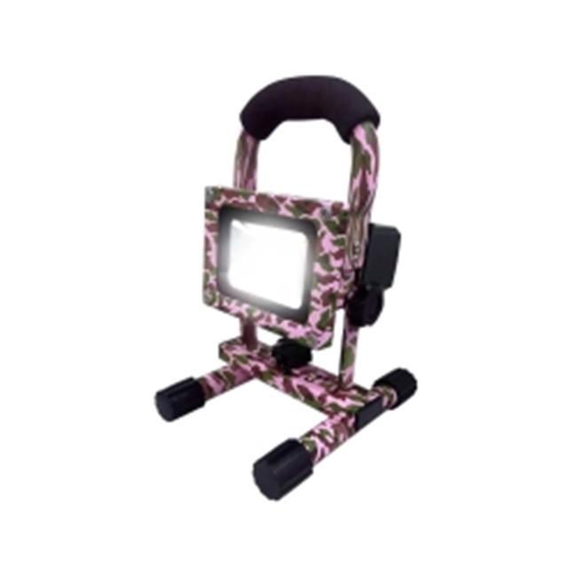 FLI FL10PCACW 10 watt, 4 hours Camo Pro-Rechargeable LED Floodlight - Pink