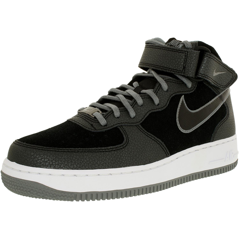 Nike Women's Air Force 1 07 Mid Black/Cool Grey High-Top ...