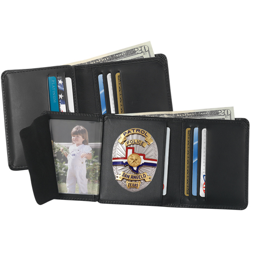 Strong Leather Company 79520-14172 6 Cc Badge Wallet 1417 - 79520-14172 - Strong Leather Company