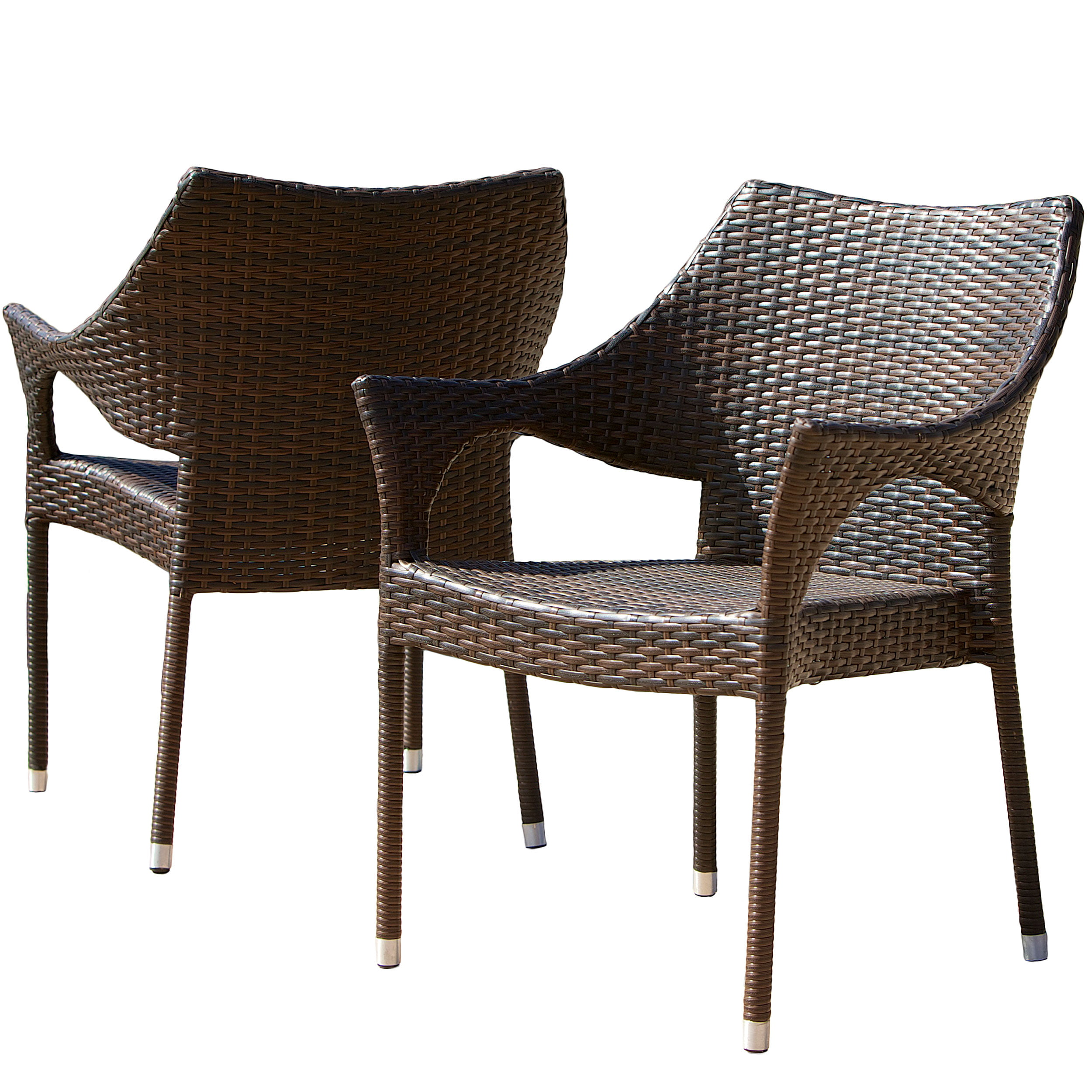 Noble House Brown Wicker Outdoor Chairs