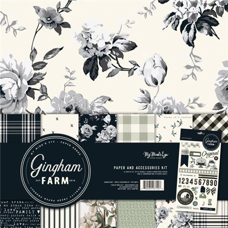 My Minds Eye GHF111 Paper & Accessories - Gingham Farm Kit, 12 in.](Printable Eyes)