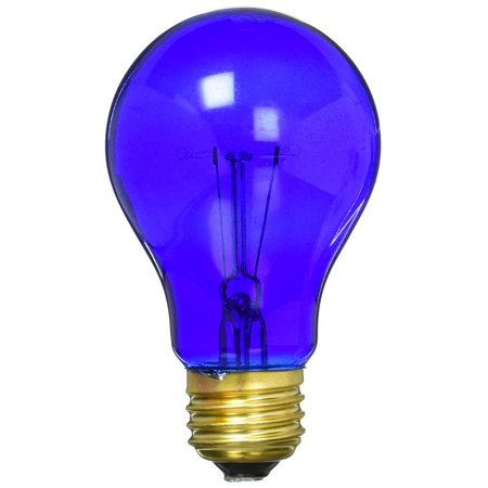 70802 Westpointe Transparent Party Light Bulb, 25W, Blue, This is highly durable By KEYSTORE INTL MCO Ship from (Transparent Blue Light Bulb)