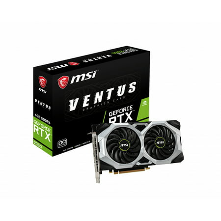Msi Gaming Geforce Rtx 2060 6gb Gdrr6 192-bit Hdmidp Ray Tracing Turing Architecture Vr Ready Graphics Card (Rtx 2060 Ventus 6g Oc)