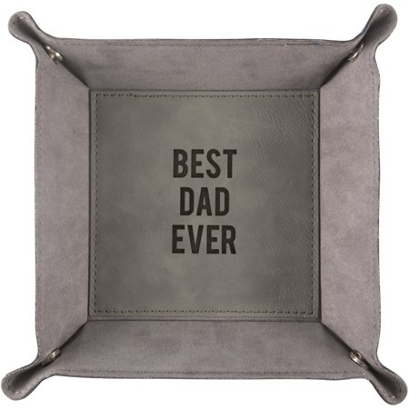 Pavilion - Best Dad Ever - Large Snap Together Catch All Tray 8.5 Inch ()