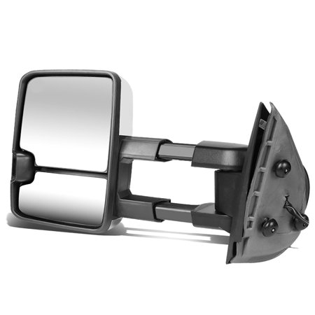 For 1988 to 2002 Chevy GMC C / K Chrome Powered+Smoked LED Turn Signal Towing Mirror (Left / -