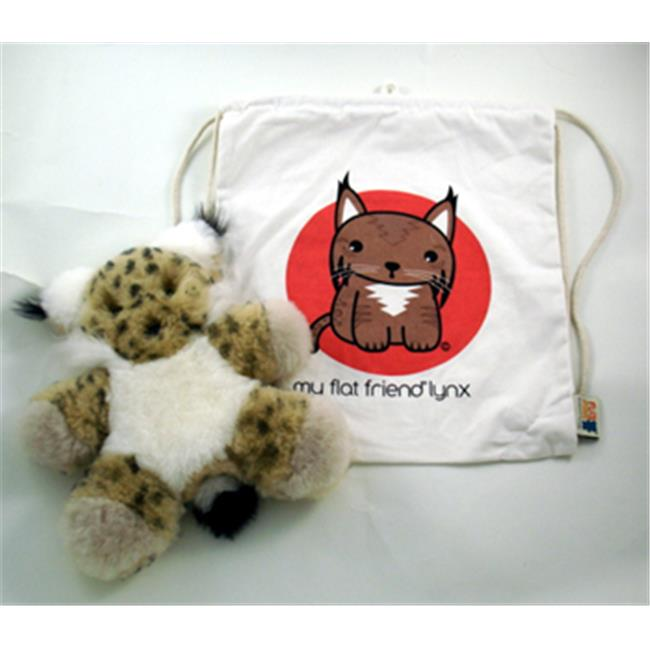 Flat Friends ILYNLC Iberian Lynx Soft Toy And Carry Bag