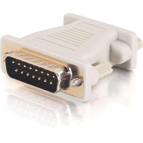 C2G 02902 C2G Mac DB15 Male to VGA HD15 Female Adapter - 1 x HD-15 Female - 1 x DB-15 Male - Beige