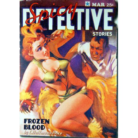 Pulp Fiction Novel Art Spicy Detective Frozen Blood Metal Sign 8inx 12in](Spicy Detective)