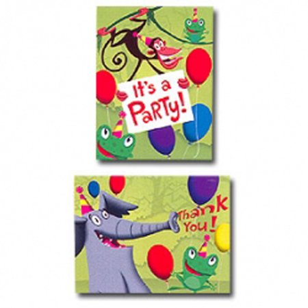 Jungle Frolic Invitations and Thank You Notes w/ Envelopes (8ct ea.) - Safari Themed Invitations