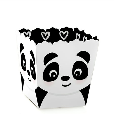 Party Like a Panda Bear - Party Mini Favor Boxes - Baby Shower or Birthday Party Treat Candy Boxes - Set