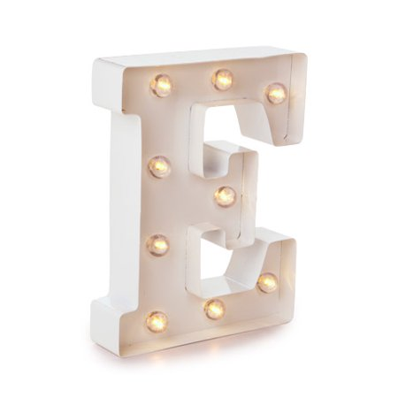 Darice Light Up White Marquee Letter - Letter E - 9.875 inches