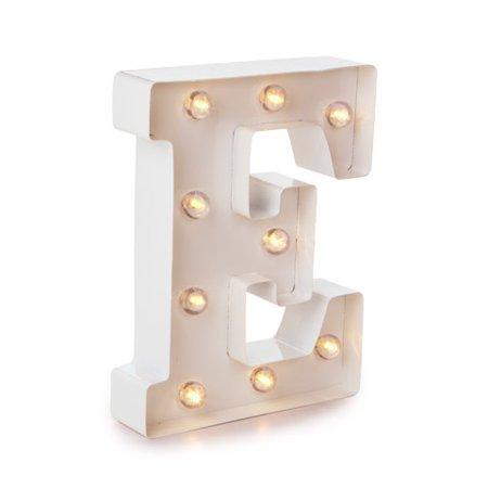 Darice Light Up Marquee Letter: White Letter E, 9.875 - Halloween Letter E