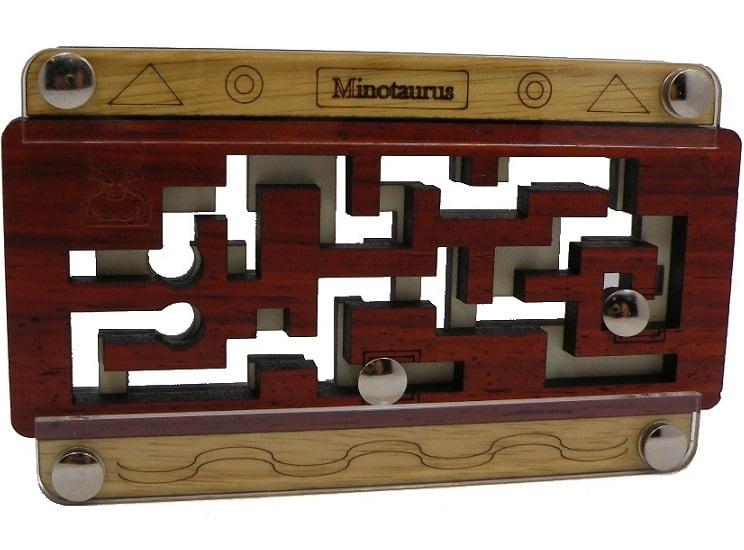 Minotaurus Mini Maze Brain Teaser Wooden Puzzle by Siebenstein Spiele