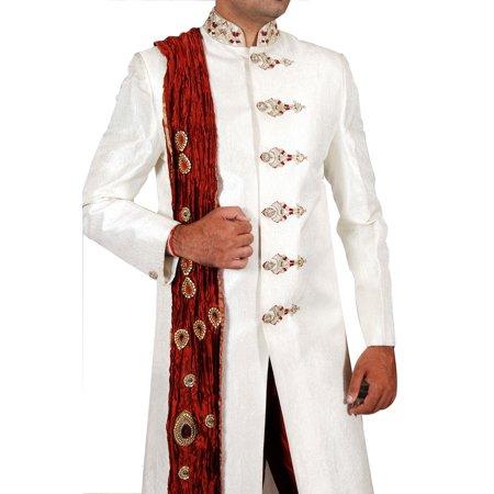 dce2f6504c5 Unique Designer Indian Wedding Cream Sherwani For Men. This product is  custom made to order ...