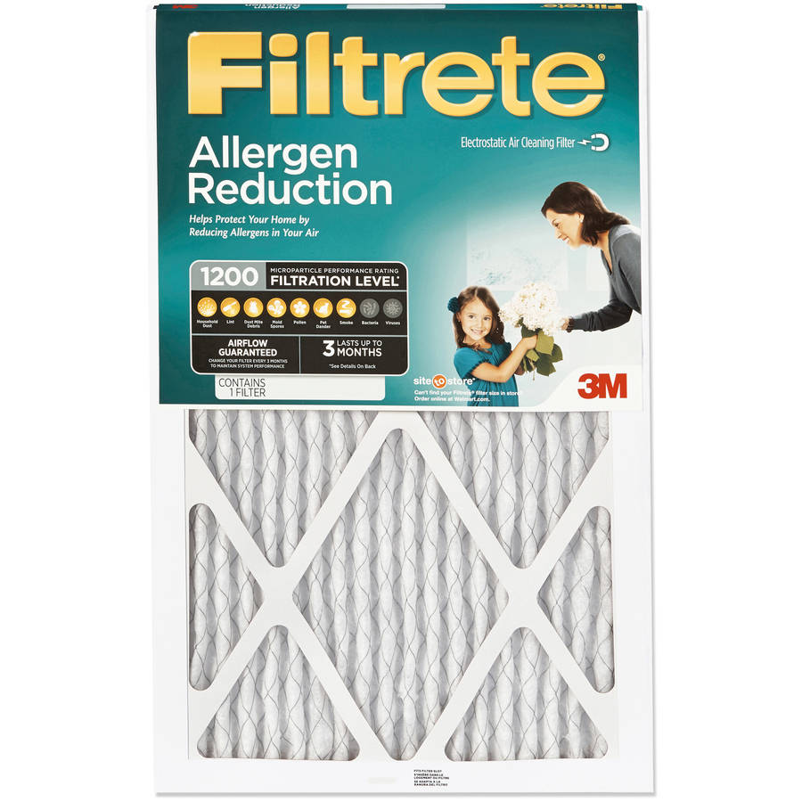 Filtrete 1200 Allergen Reduction Air and Furnace Filter, Available in Multiple Sizes, 1pk