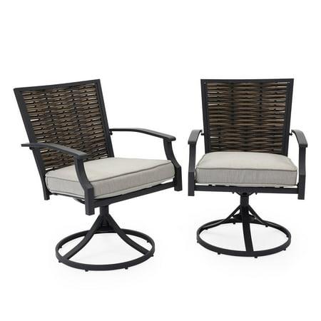 Belham Living Melrosa Wicker Outdoor Swivel Dining Chair - Set of 2 ()
