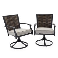 Belham Living Melrosa Wicker Outdoor Swivel Dining Chair - Set of 2