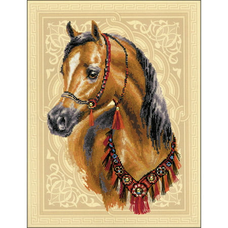 Horse Cross Stitch - Arabian Horse Counted Cross Stitch Kit, 11.75