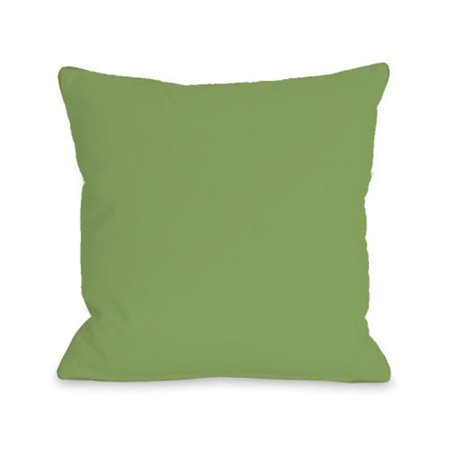 One Bella Casa 74712PL16 16 x 16 in. Solid Color Pillow - Olive