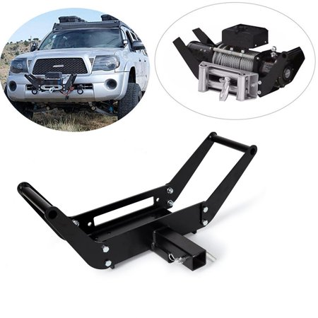 Foldable Winch Mounting Bracket Mount Plate Cradle for Truck Trailer ATV 4WD 2