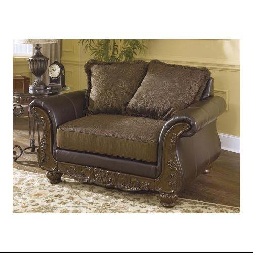 Ashley 3460223 Wilmington Chair And A Half With Two Accent Pillows Rolled  Arms And One Loose