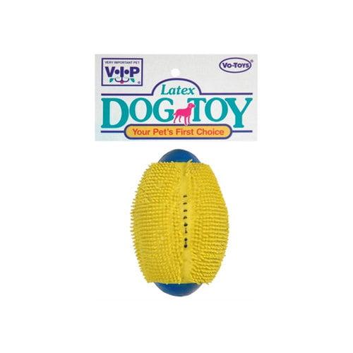 Vo-Toys Latex Spinkey Football Squeaker Dog Toy