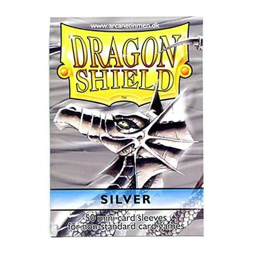 Dragon Shield Card Supplies YUGIOH Card Sleeves Silver 50 Count Multi-Colored