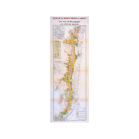 - Map of the Wines of the Burgundy Region: Cote De Beaune Wine Country Vintage Print Wall Art