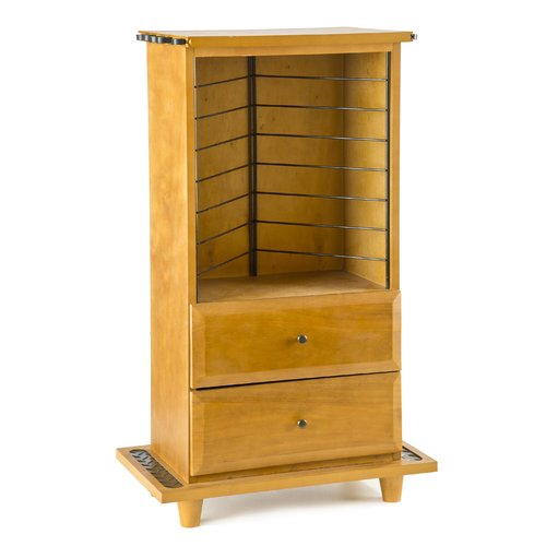 Organized Fishing Open Top 2-Drawer Cabinet, Oak
