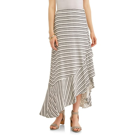 Concepts New York Women's Flounce Wrap Maxi - Batman Skirt