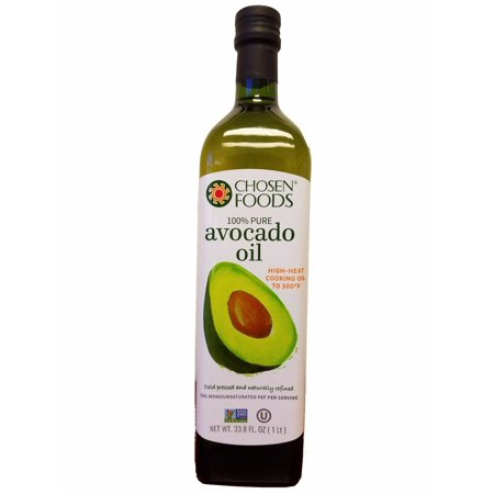 Chosen Foods 100% Pure Avocado Oil 1 L, Non-GMO, for High-Heat Cooking, Frying, Baking, Homemade Sauces, Dressings and
