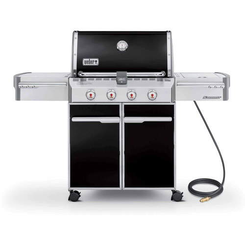 Weber Summit E-420 Natural Gas Grill, Black by