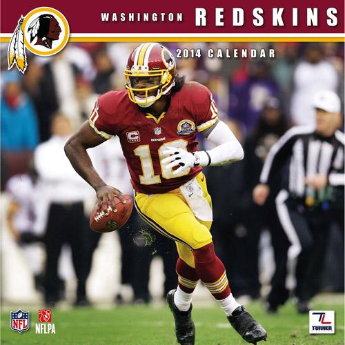 "Turner Licensing Washington Redskins 2014 12"" x 12"" Team Wall Calendar"