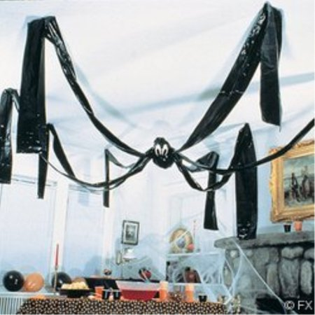 fun express hanging halloween plastic spider, 20 foot, black](Halloween Express Charlotte)