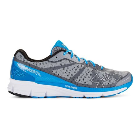 Under Armour Men's UA Charged Bandit Running Shoe,Steel/Black/Blue Jet,