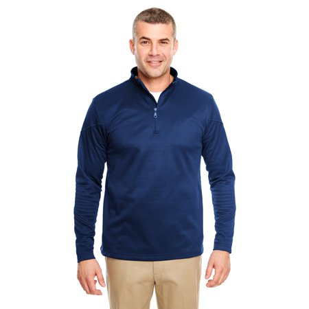 A Product of UltraClub Adult Cool & Dry Sport Quarter-Zip Pullover Fleece - NAVY - M [Saving and Discount on bulk, Code Christo]