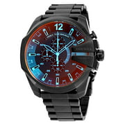 Diesel Men's Mega Chief DZ4318 Black Stainless-Steel Plated Japanese Automatic Fashion Watch