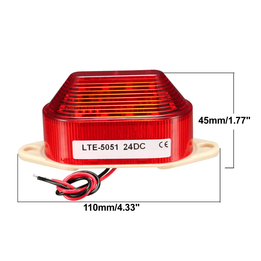 Warning Light Bulb Flashing Industrial Signal Tower Lamp DC 24V Red LTE-5051 - image 1 of 4