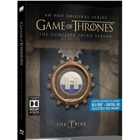 Game Of Thrones  The Complete Third Season  Limited Edition Steelbook   Blu Ray   Digital Hd   Collectible Sigil Magnet