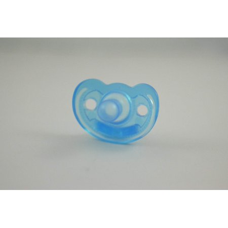 Full-term Natural Scent Pacifier Blue, Completely encapsulated with silicone - soft against baby's face. By GumDrop - Homemade Gumdrops