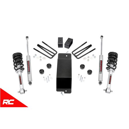"Rough Country 3.5"" Lift Kit (fits) 2014-2016 Chevy Silverado GMC Sierra 1500 4WD N3 Loaded Struts Shocks C Steel 199.23"