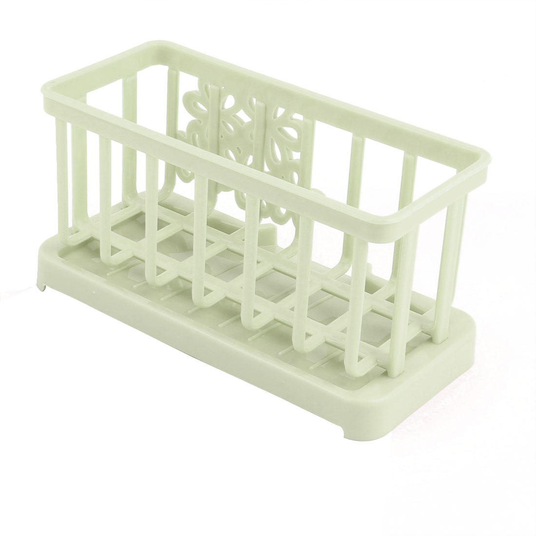 Kitchen Plastic Rectangle Cleaning Tool Brush Sink Suction Holder Light Green - image 2 de 4