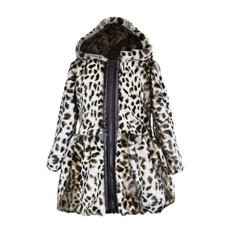 f0c354782 Widgeon Big Girls  Button Front Faux Fur Coat