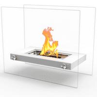 Ryan Rove Monrow Ventless Tabletop Portable Bio Ethanol Fireplace In White