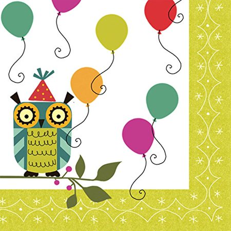Birthday Birdies Owl Party Lunch Napkins - Owl Birthday Party